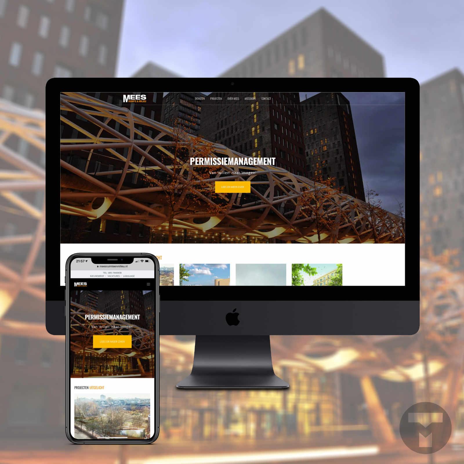 Website voor Mees Ruimte & Milieu