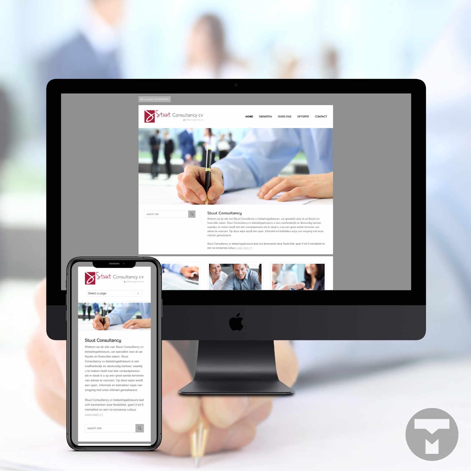 Website voor Stuut Consultancy