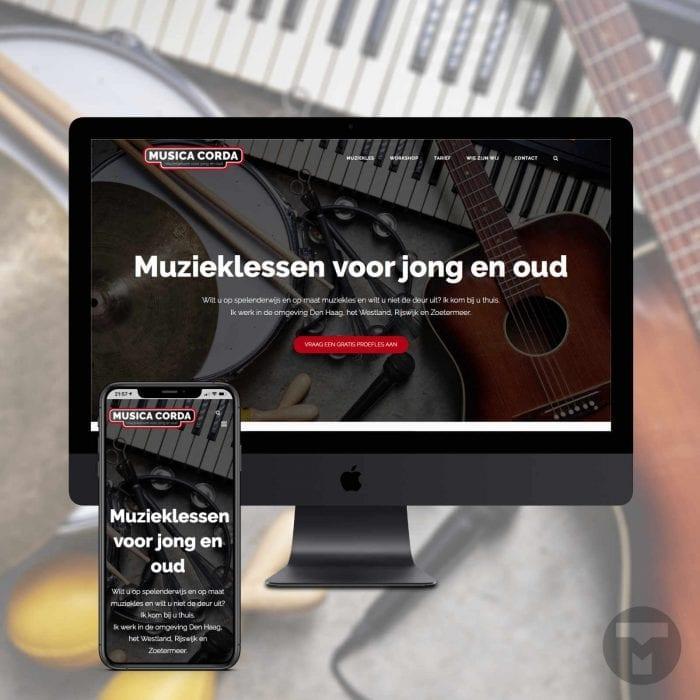 Website voor Musica Corda